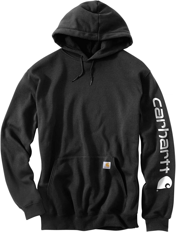 Carhartt Herren Midweight Sleeve Logo Hooded Sweatshirt Hemd Black