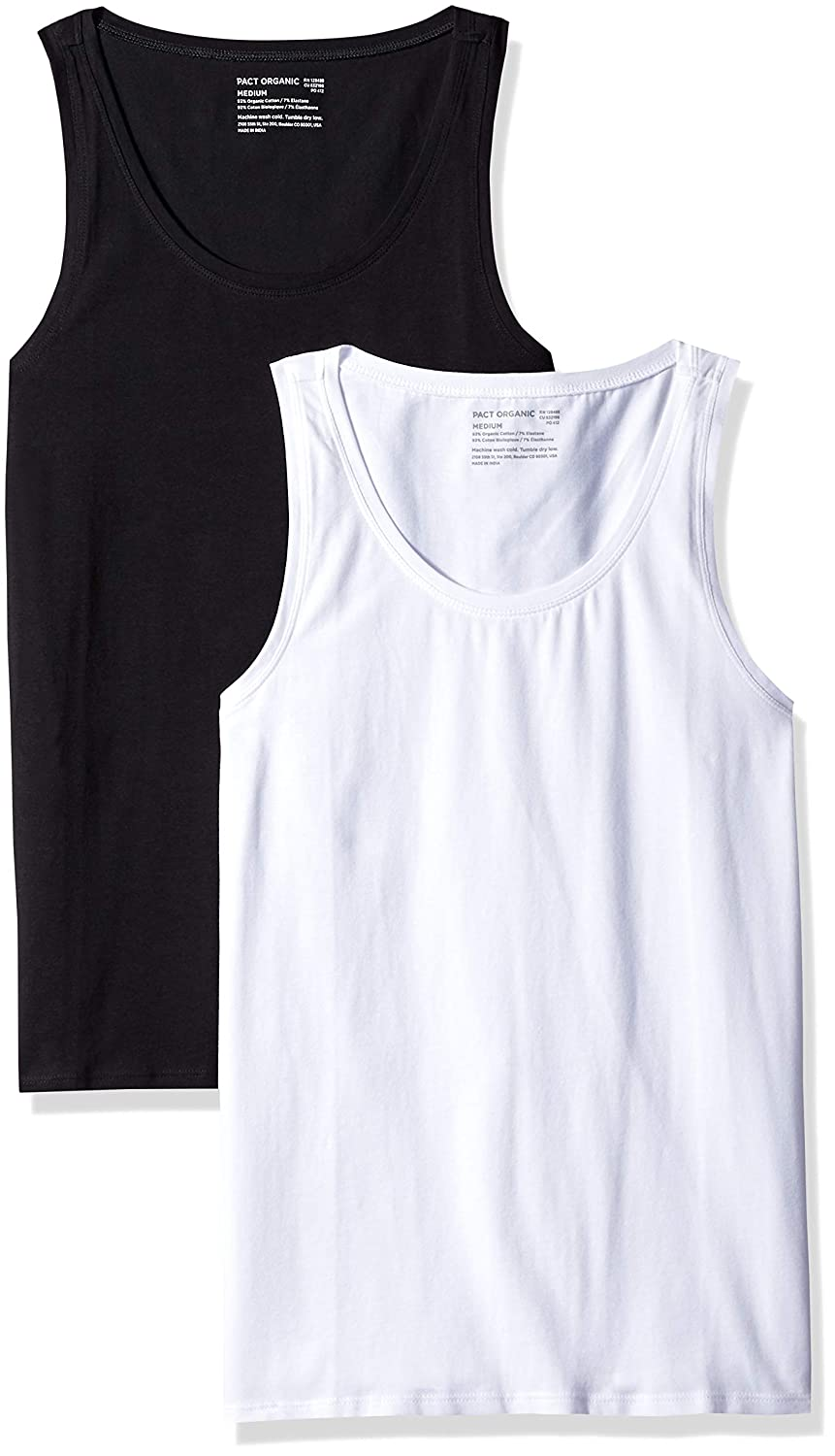 bdcf25913dced Pact Women's Stretch-fit Tank Top, Scoop Neckline (2 Pack) at Amazon  Women's Clothing store: