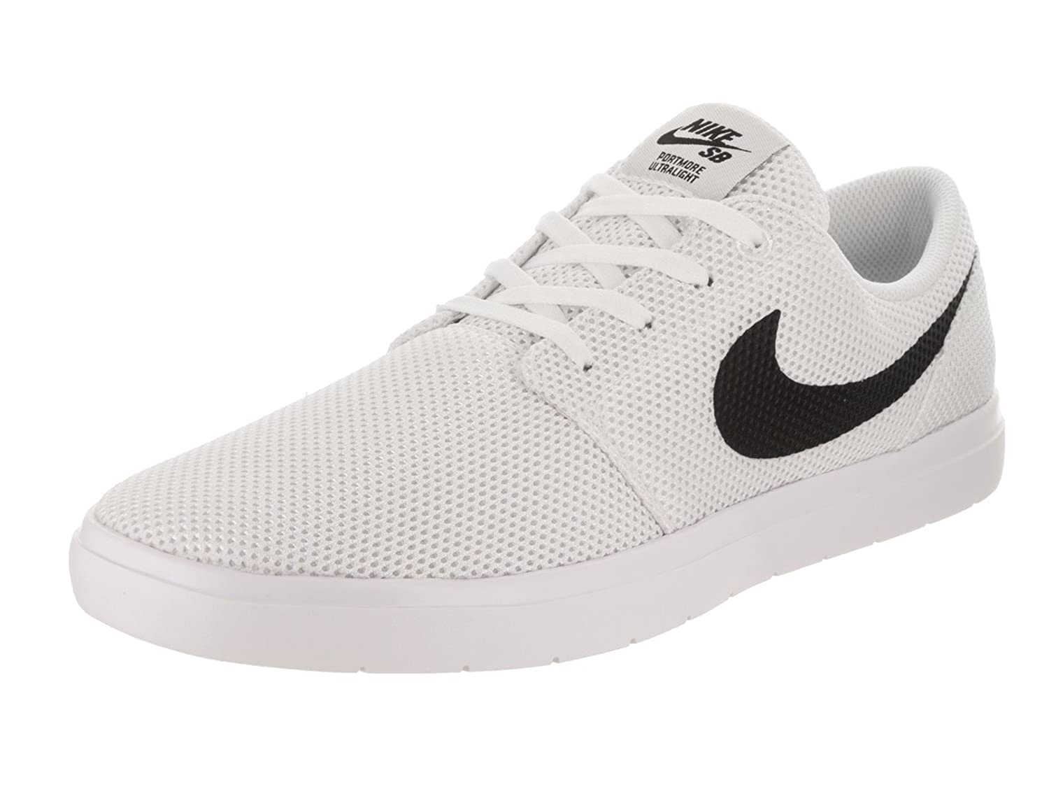 NIKE Men's SB Portmore II 7.5 Ultralight Skate Shoe B004B5E49I 7.5 II D(M) US|White/Black/Track Red f519c8
