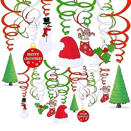 Amazon Com Cocobee Merry Christmas Hanging Swirls