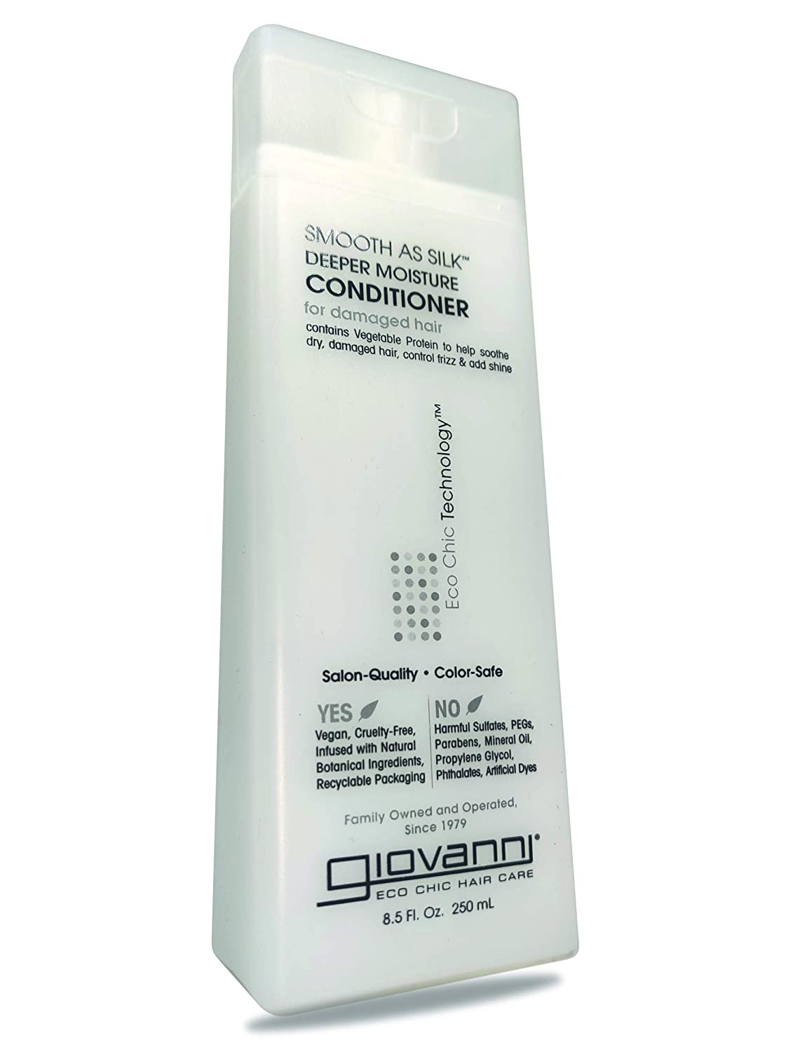 GIOVANNI Smooth As Silk Conditioner, 8.5 FZ