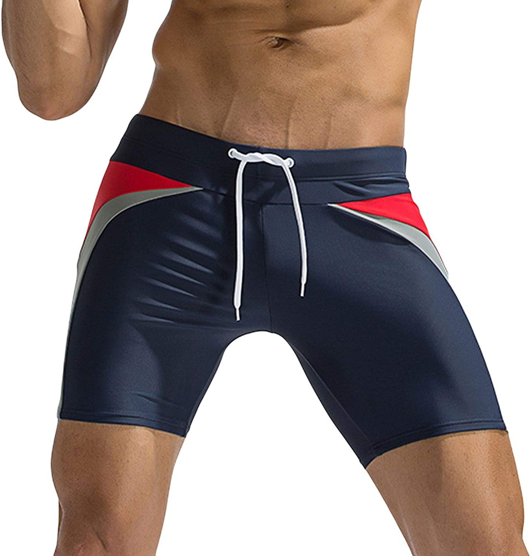 ZEWLLY Football Team Mens Swim Gradient Shorts Training Quick Dry Swim Suit Trunks Athletic Sportwear for Men