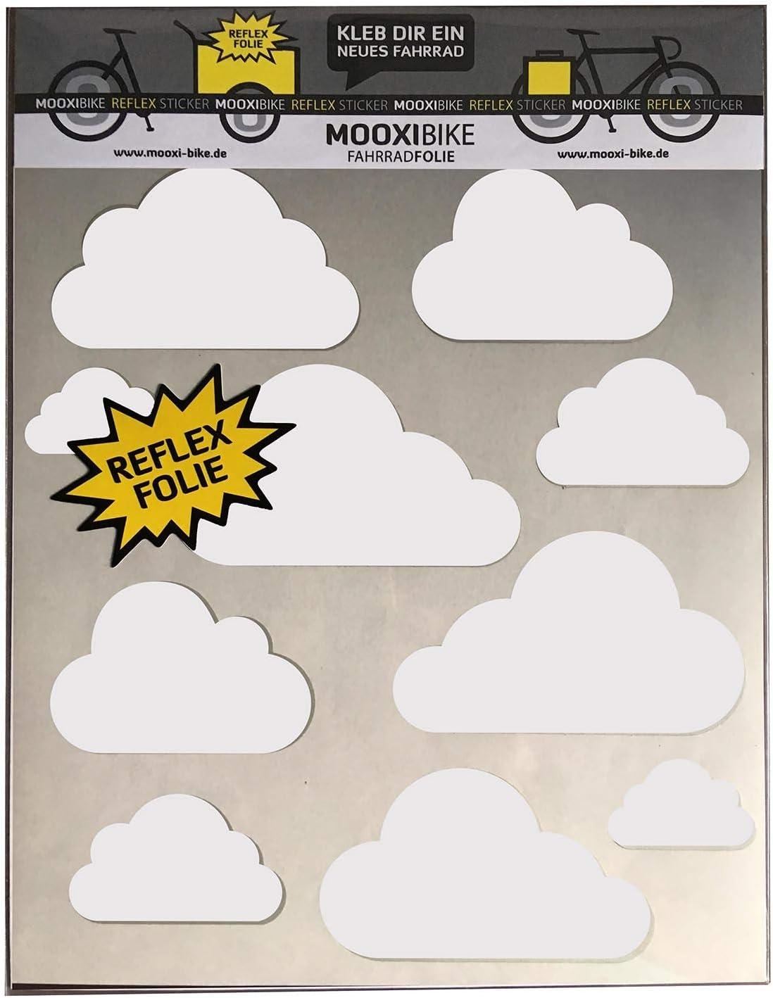 MOOXIBIKE Sticker Set Juego de Pegatinas, Blanco, A4