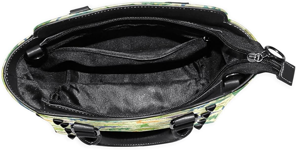 Sunlome Cute Dinosaur Dino Pattern Womens Leather Tote Shoulder Bags Handbags