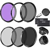 Neewer 58MM Lens Filter Accessory Kit (UV, CPL, FLD) for CANON EOS Rebel T5i T4i T3i T3 T2i T1i XT XTi XSi SL1 DSLR Cameras