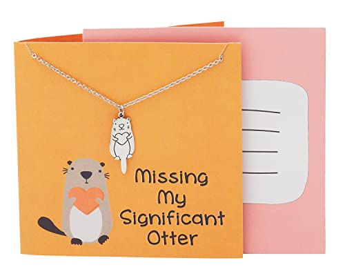 Amazon Quan Jewelry Otter Friendship Necklace Funny Puns Gifts
