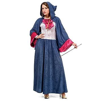 Hada madrina de Cenicienta disfraz de señora de cuento azul ...