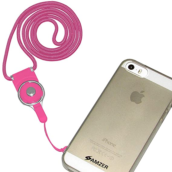 detailing 2dcfa c0013 Amzer Detachable Cell Phone Neck Lanyard - 1 Pack - Carrying Case - Retail  Packaging - Hot Pink
