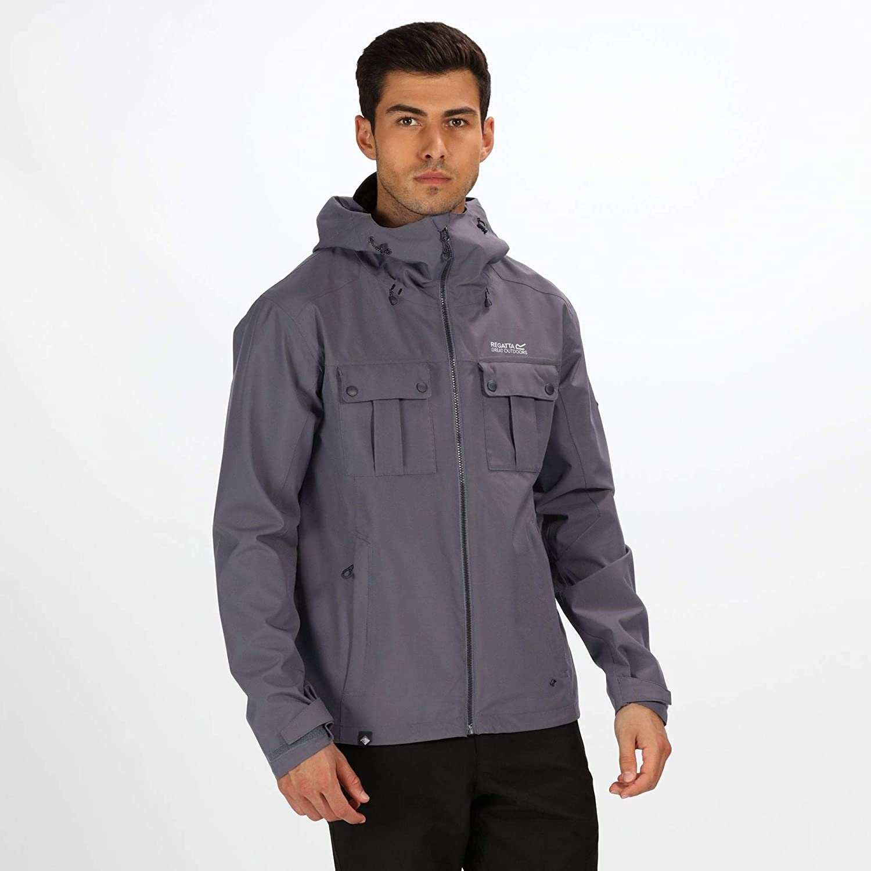 Regatta Herren Tarnel Waterproof and Breathable Hooded Multi Pocket Shell Jacke