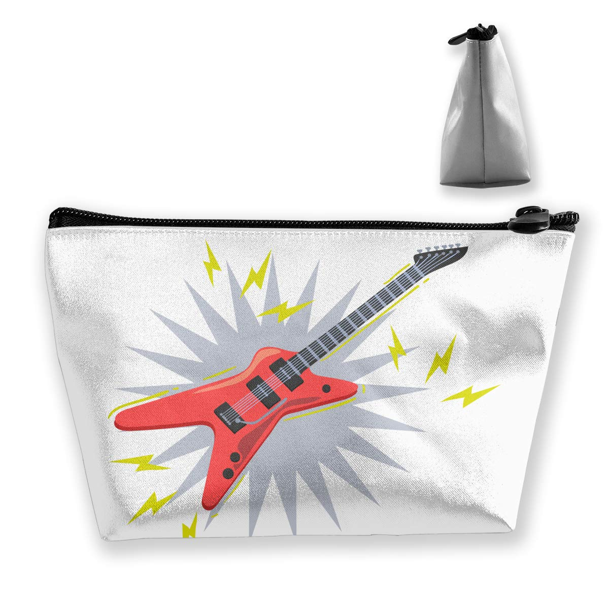 Trapezoid Toiletry Pouch Portable Travel Bag Guitar Clutch Bag
