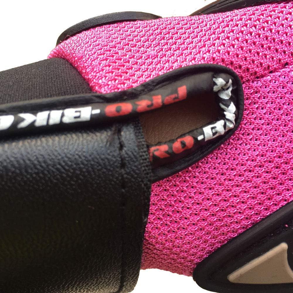 Berrd Rosa Frauen Motorradhandschuhe Motocross Vollfinger-Reithandschuhe Sommer Fahrradfahren Mountainbike Handschuhe Rosa M.
