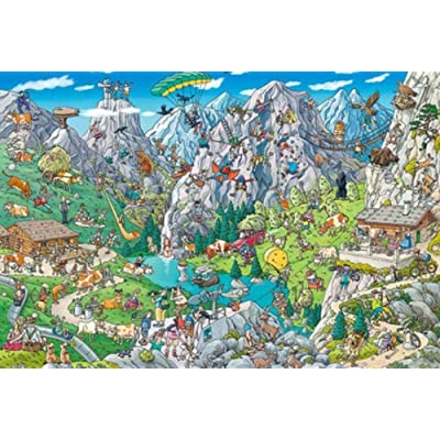 PTWJ 1000 Pieces of Jigsaw Puzzle Jigsaw Puzzle Art Work Suitable for Adult Grown up Jigsaw Puzzles Large Toy Games Educational Gifts Home Decor Intellectual Games: Toys & Games