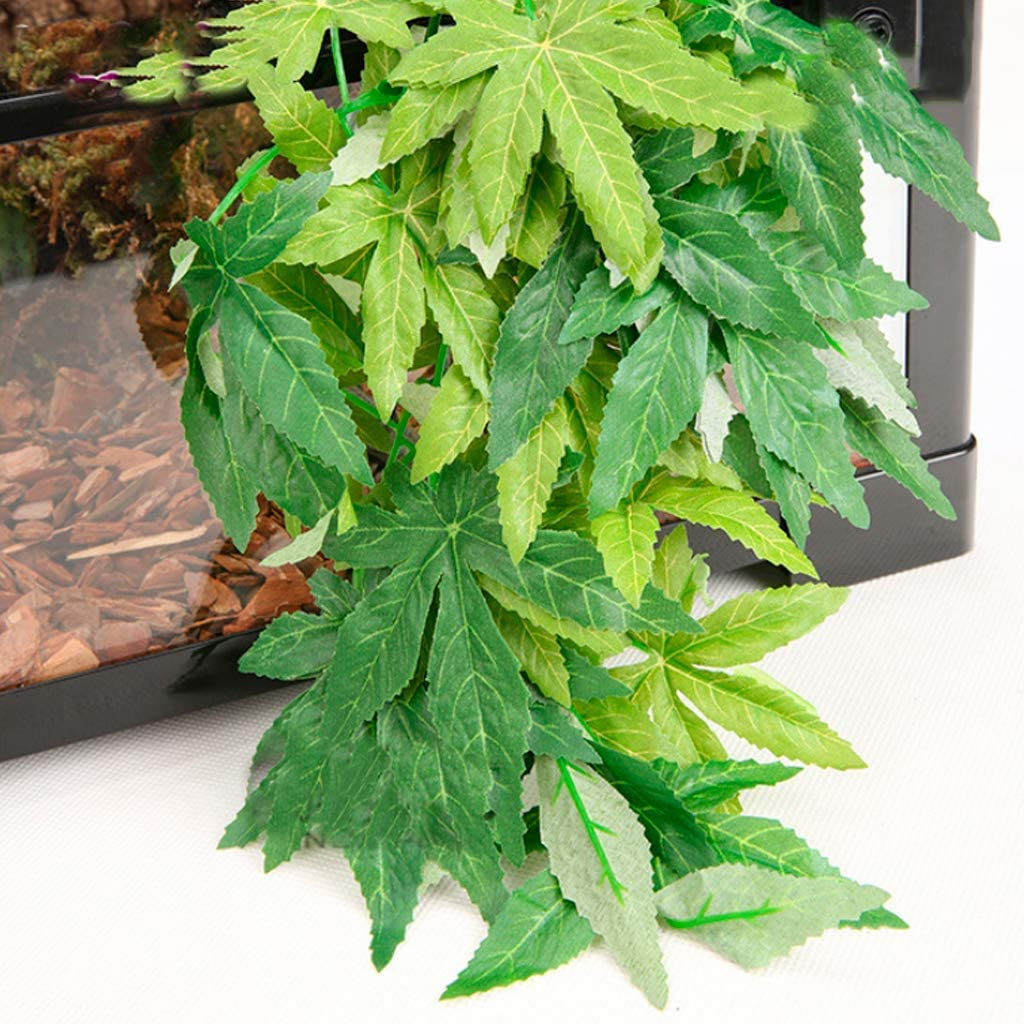 Artificial Fake Hanging Green Leaf Decoration for Aquarium Fish Tank Cost-Effective and Good Quality Fliyeong Aquatic Plant