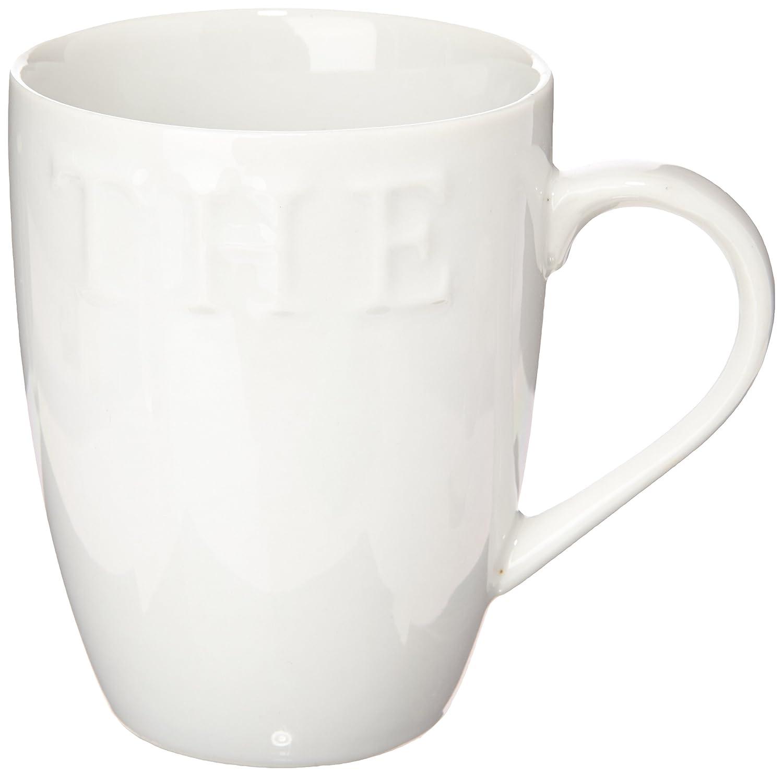 Générique Unbranded 7056010 Tea/Coffee Mugs Set of 6, 32 cl Porcelain White