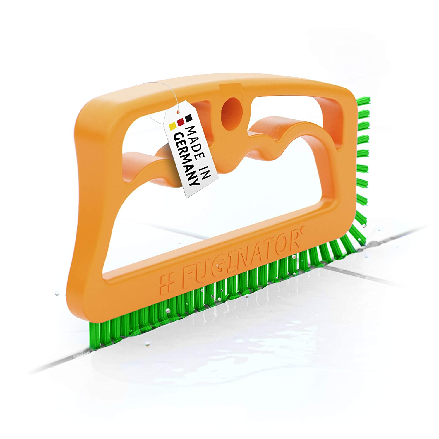 Fuginator Tile Grout Cleaning Brush – Orange/Green– in All Household Areas Fugenial 88