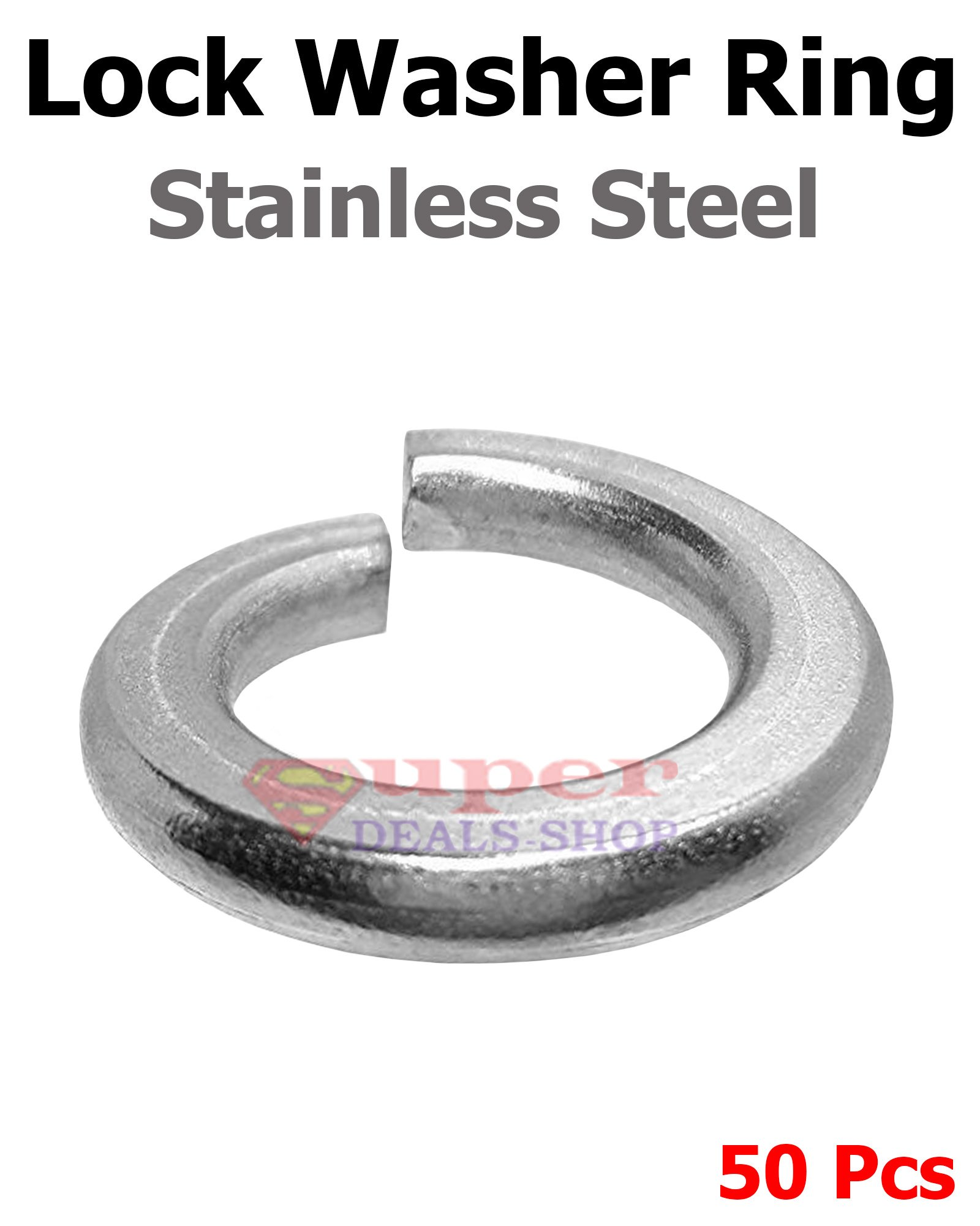 50 Pcs 9/16 Stainless Steel Medium Split Lock Washer Split Ring Super-Deals-Shop