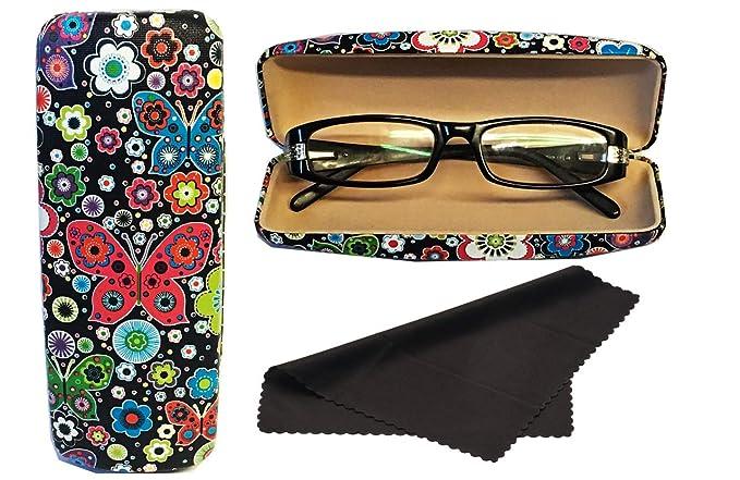 Glasses Case, Hard Shell Stylish Protects Sunglasses Storage For Reading  Eyeglasses U0026 Eyewear Clamshell Holder