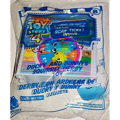 McDonald's 2020 Toy Story 4 Happy Meal Toy #8 Ducky and Bunny's Squirrel Derby: Toys & Games