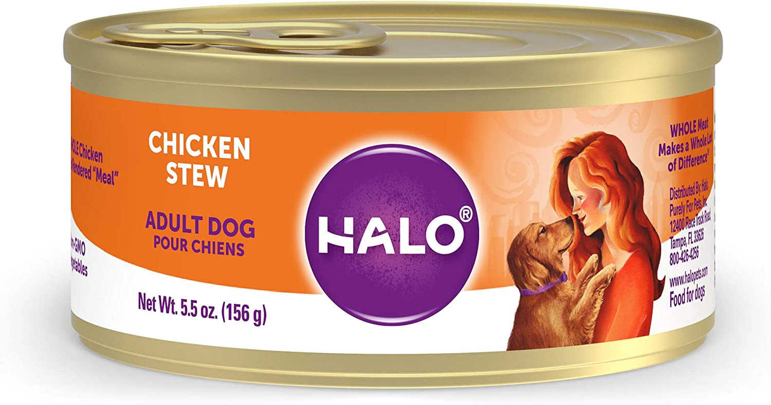 Halo Natural Wet Dog Food, Chicken Recipe