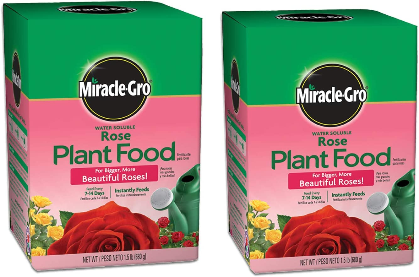 Miracle-Gro Water Soluble Rose Plant Food 1.5 lbs., 2-Pack