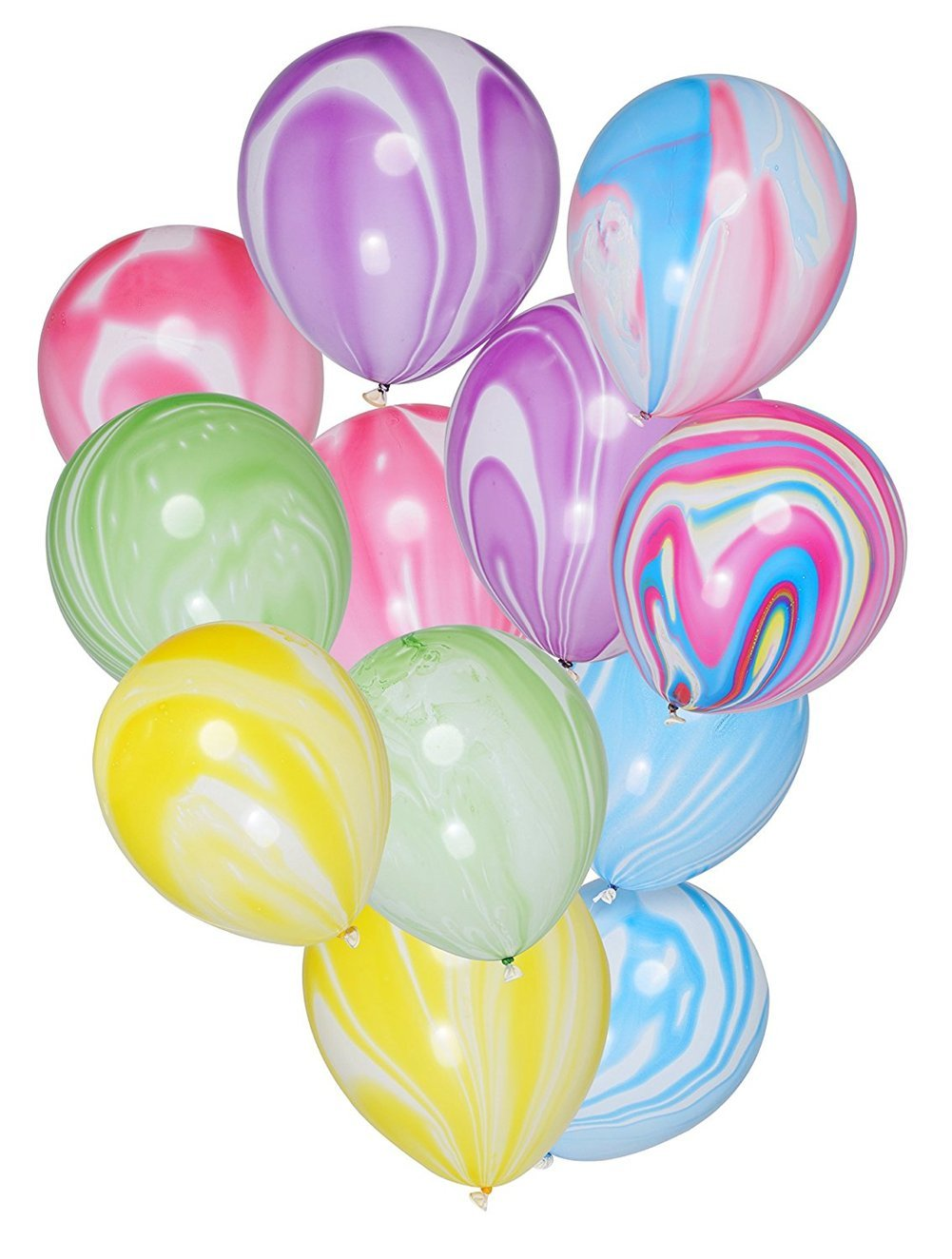 Wedding Decoration 12 Inch Cloud of Color Pack of 18 Marble Colorful Balloons for Unicorn Party Supplies Mi-Trade