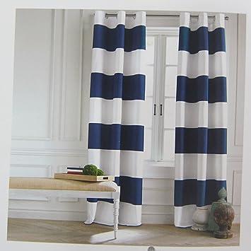 Amazon.com: Tommy Hilfiger Cabana Stripe Curtains 2 Panels 50 by ...