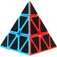 Aiduy Triangle Pyramid Cube, Carbon Fiber Sticker Cube for Brain Teasers and Speed Cubing Beginners