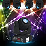 Lixada Head Moving Light 30W DMX512 Sound Control Auto Rotating 9/11 Channels Rainbow 7 Colors Changing LED Stage Pattern Lamp for Disco KTV Club Party