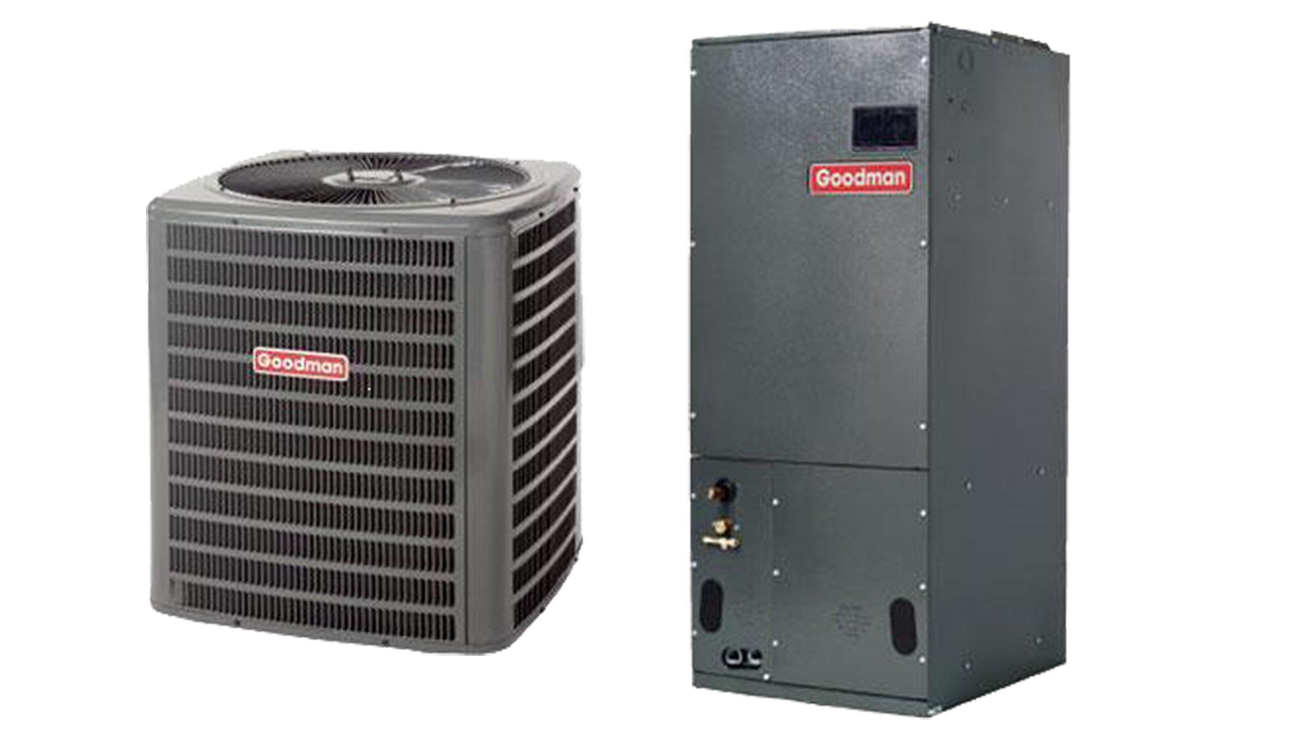 Goodman 1.5 Ton 14 SEER Heat Pump System with Multi-Position Air Handler GSZ140181 ARUF25B14