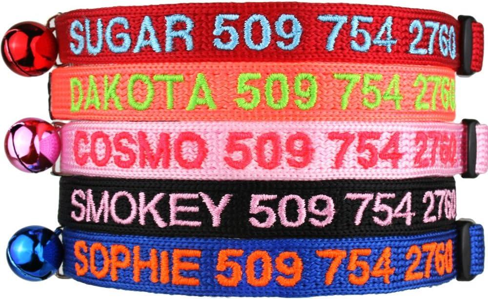 5. GoTags Personalized Breakaway Cat Collar