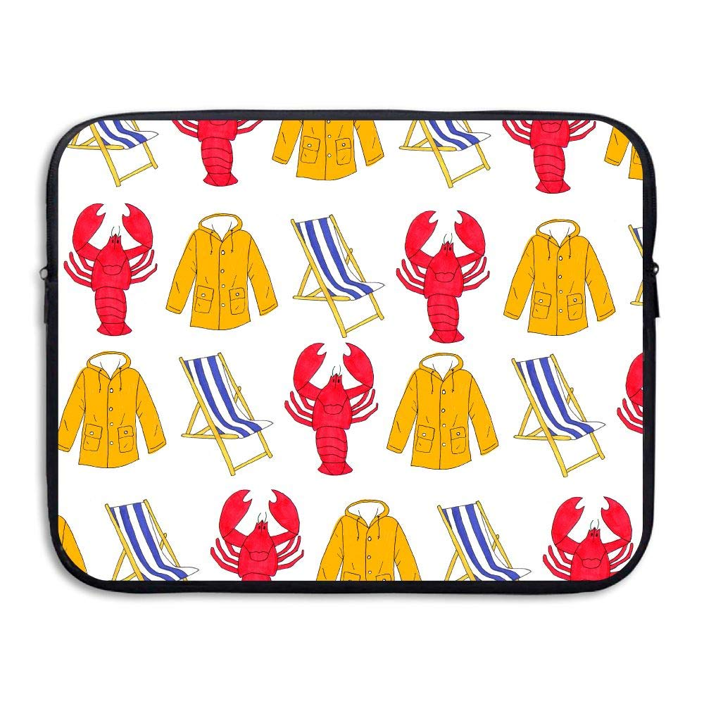 Fashion Laptop Sleeve Case Lobster Beach Chair Coat Computer Storage Bag Portable Protective Bag Briefcase Sleeve Bags Cover MacBook/Ultrabook/Notebook/Laptop