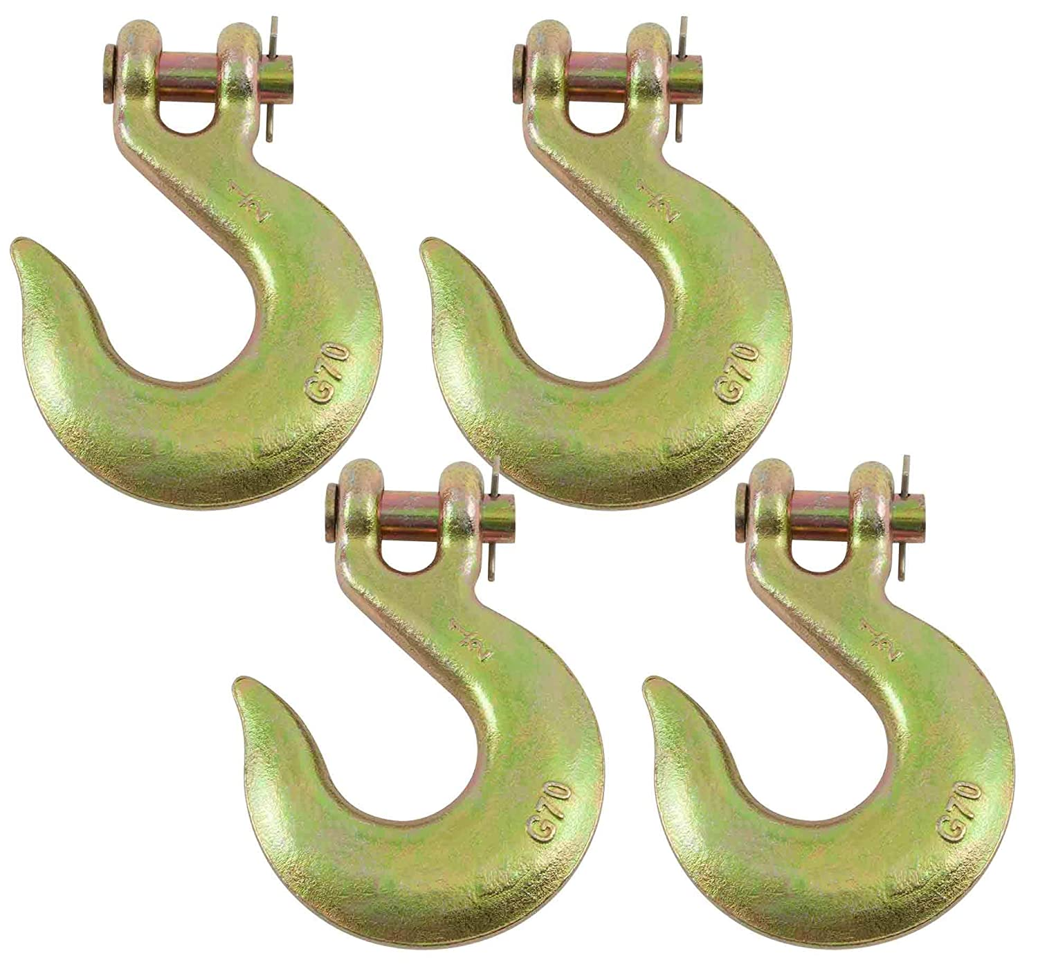 1//2 Clevis Slip Hook G70 Tow Chain Wrecker Truck Trailer Tie Down Mytee Products 4 Pack
