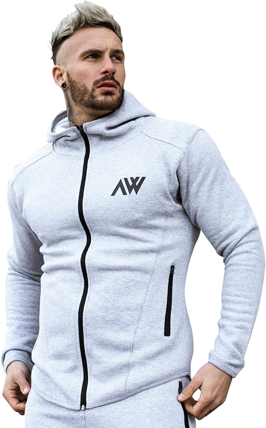 Aspire Wear Sudadera con Capucha y Cremallera Gorra Deportiva Slim Fit Gym Technical Innovative Hooded Active Top Manga Larga