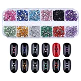 NICOLE DIARY Rose Gold Nail Studs Colorful