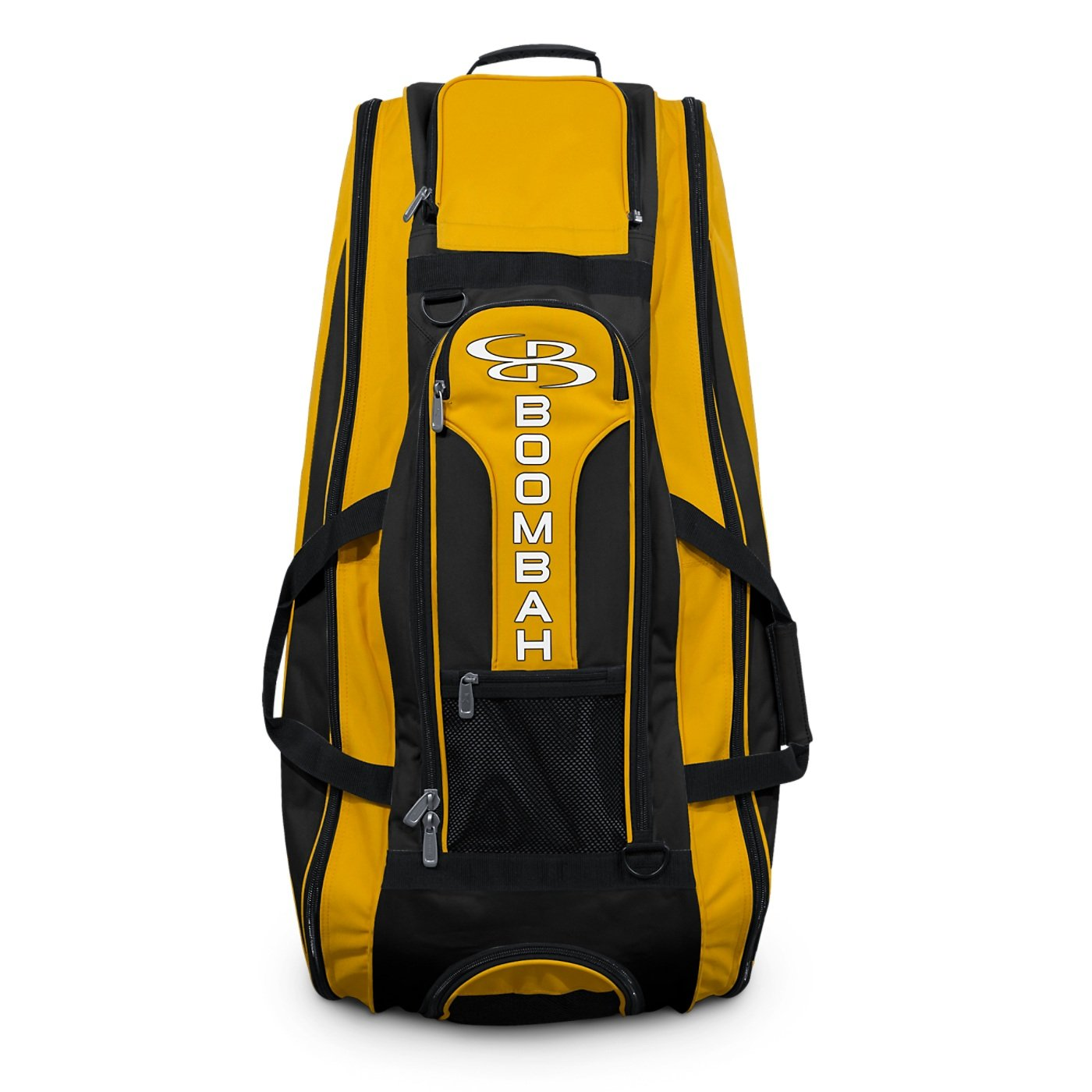 Boombah Beast Baseball/Softball Bat Bag - 40'' x 14'' x 13'' - Black/Gold - Holds 8 Bats, Glove & Shoe Compartments by Boombah (Image #3)