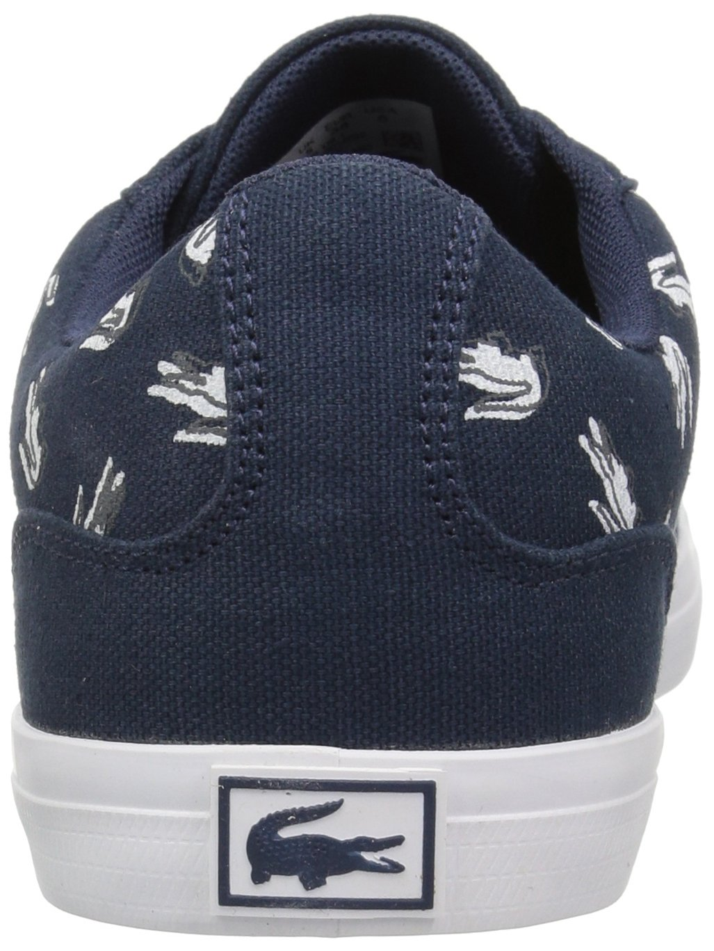 Lacoste Kids' Lerond Sneakers,Navy/White cotton canvas,5 M US Big Kid by Lacoste (Image #2)