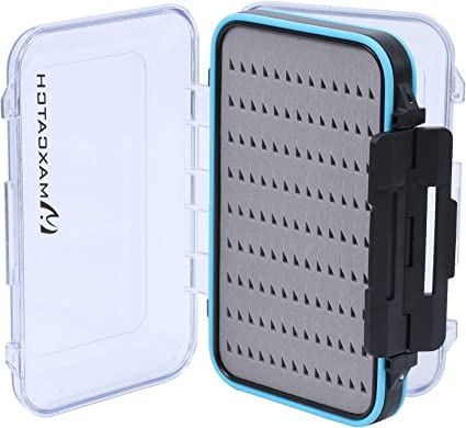 Fly Fishing Box Two-Sided Waterproof Lightweight Fly Box Easy Grip Transparent