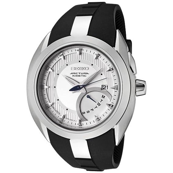 SEIKO Kinetic SRN011P1 - Reloj de caballero de cuarzo, correa de caucho color negro: Seiko: Amazon.es: Relojes