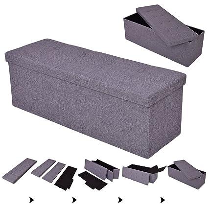 Outstanding Amazon Com Blossom Store 43 Folding Ottoman Bench Storage Inzonedesignstudio Interior Chair Design Inzonedesignstudiocom