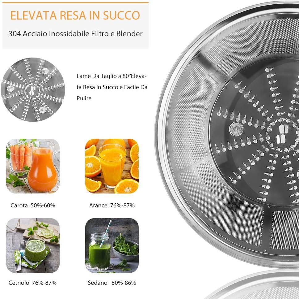 Bagotte LICUADORA de Frutta Y Verdura Professional, 600W EXTRACTOR ...