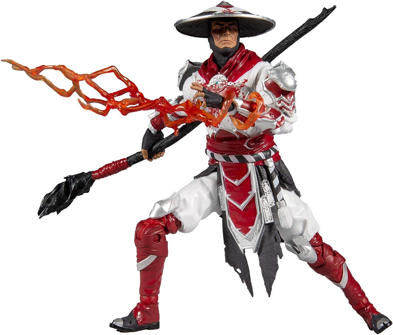 """McFarlane Toys Mortal Kombat Raiden Bloody White Hot Fury Skin 7/"""" Action Figure"""