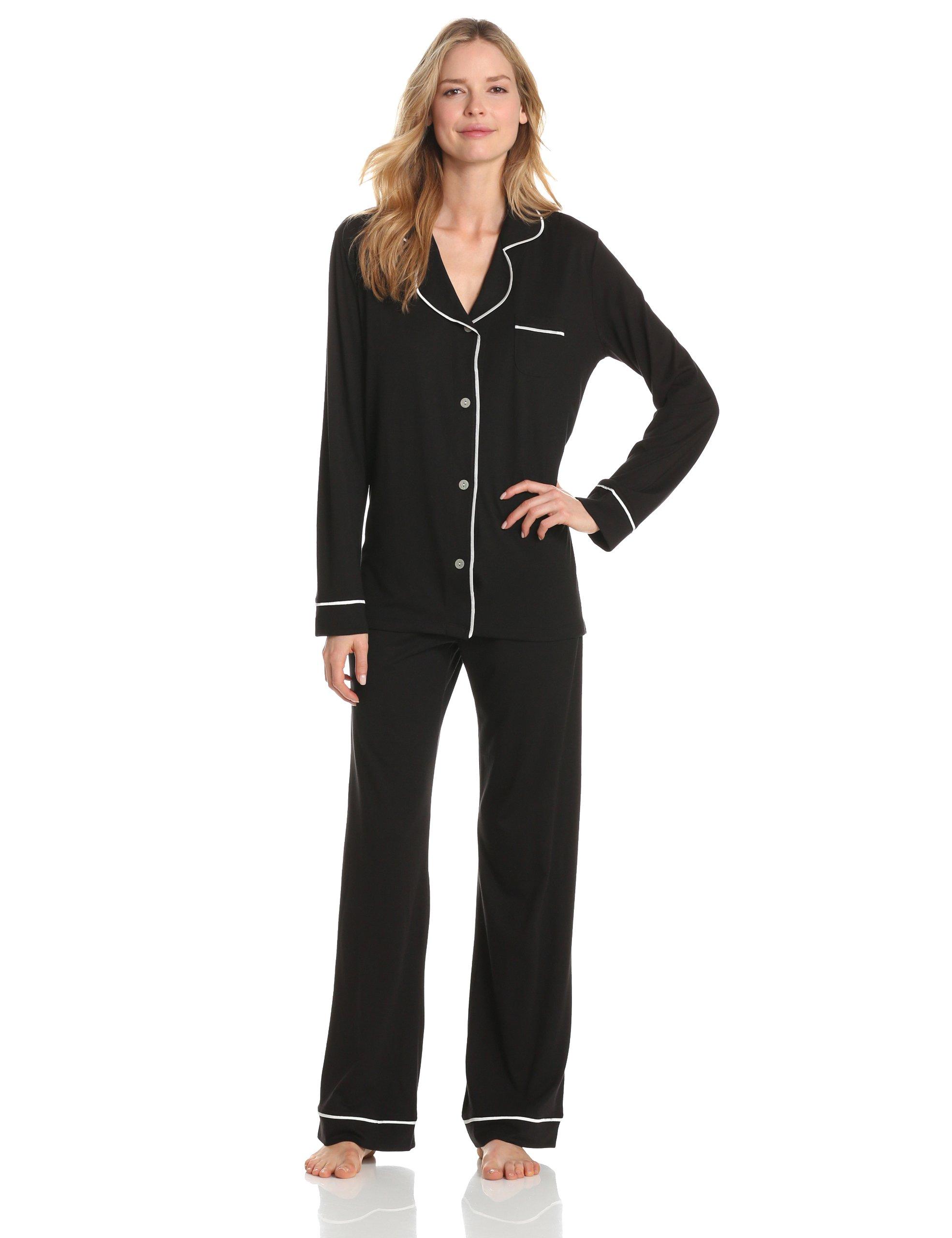 Cosabella Women's Amore Pajama Set, Black/Ivory, Medium