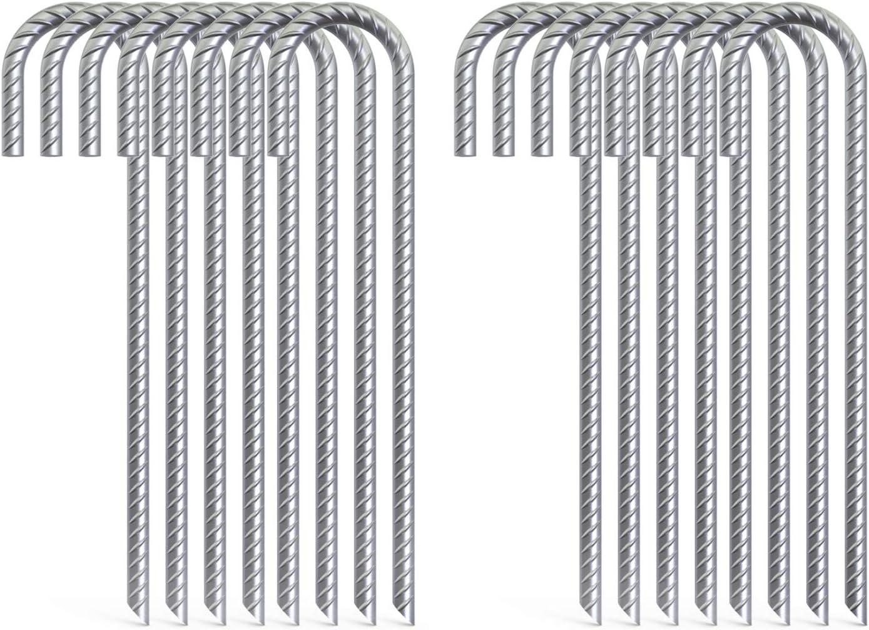 """GNR914G Galvanized 14/"""" Steel Rebar Spikes for Asphalt Surfaces 12 PACK"""