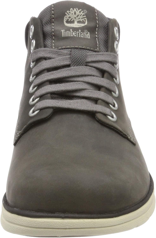 Timberland Men's Bradstreet Leather Sensorflex Chukka Boots Dark Grey Full Grain