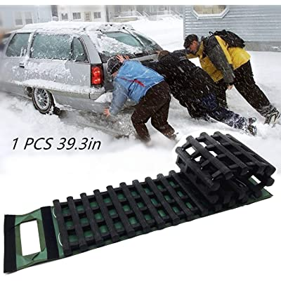 EVTIME Emergency Devices 39.3Inch Tire Traction Mats, Portable for Snow, Ice, Mud, and Sand Used to Car, Truck, Van or Fleet Vehicle: Automotive