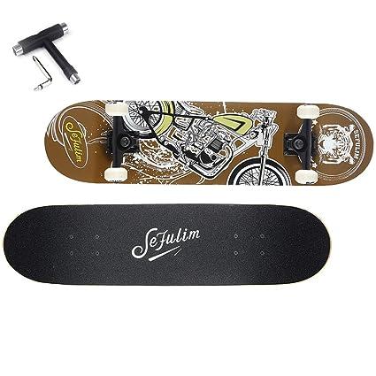 0232482b2cf Sefulim Skateboards para Deportes Y Juegos Al Aire Libre Skate Longboard  Cruiser Scooter Freestyle con Patrón