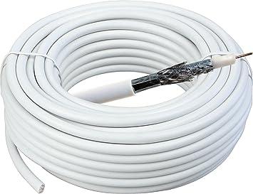 Cable de instalación coaxial 40m - Blanco (110dB): Amazon.es: Electrónica