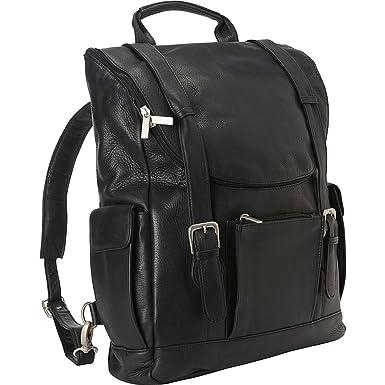 Amazon.com: Le Donne Leather Classic Laptop Backpack (Black): Clothing