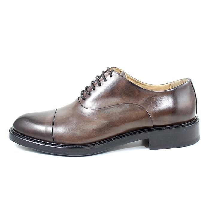 Zapatos para Hombre GIORGIO REA Elegante Oxfords Richelieu (EUR 42 - UK 8 - US 9, Marrón): Amazon.es: Zapatos y complementos