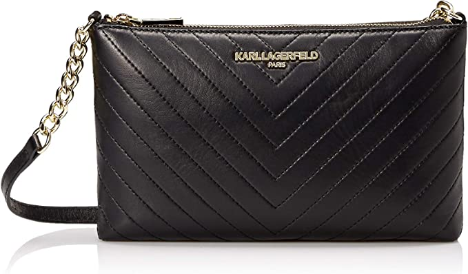 latest design in stock online here Karl Lagerfeld Paris Charlotte Lamb Crossbody, Black/Gold ...